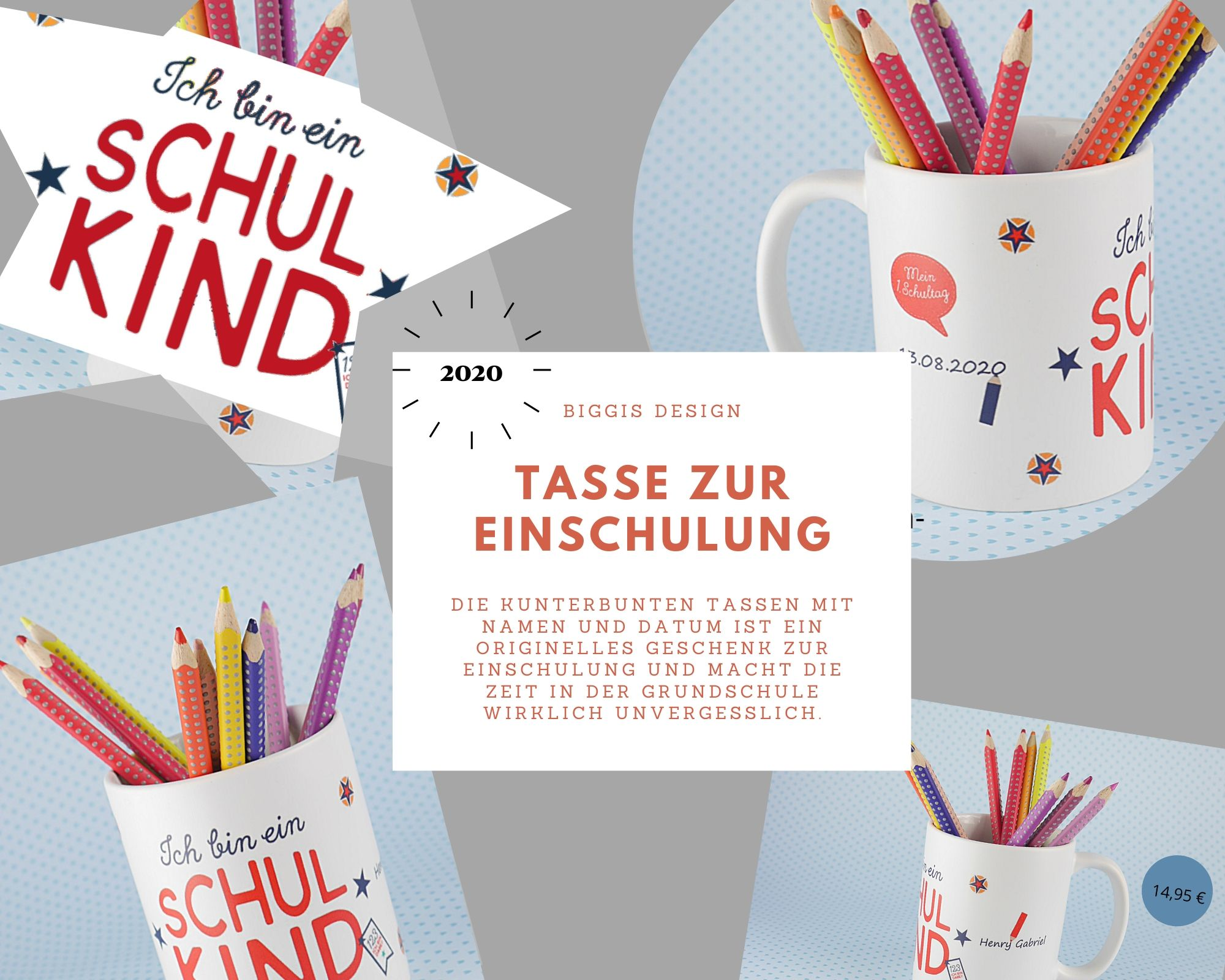 Tasse Zur Einschulung Schulkind Tasse Einschulung 2020 Geschenk Zur Einschulung Biggis Design